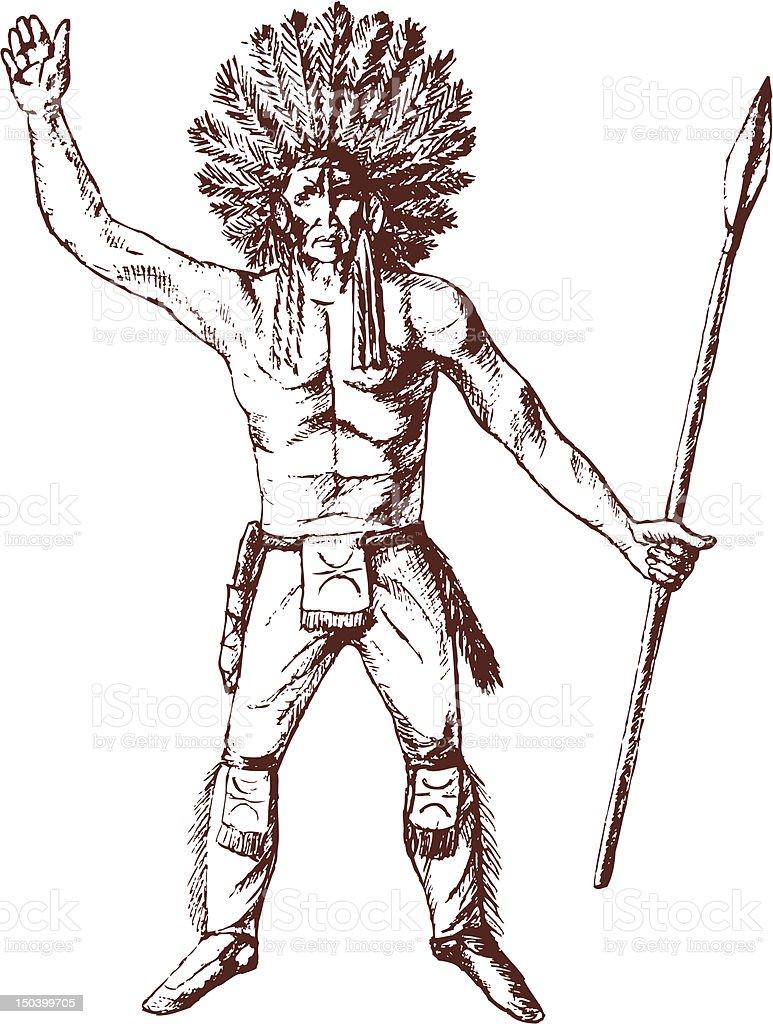Native American royalty-free stock vector art