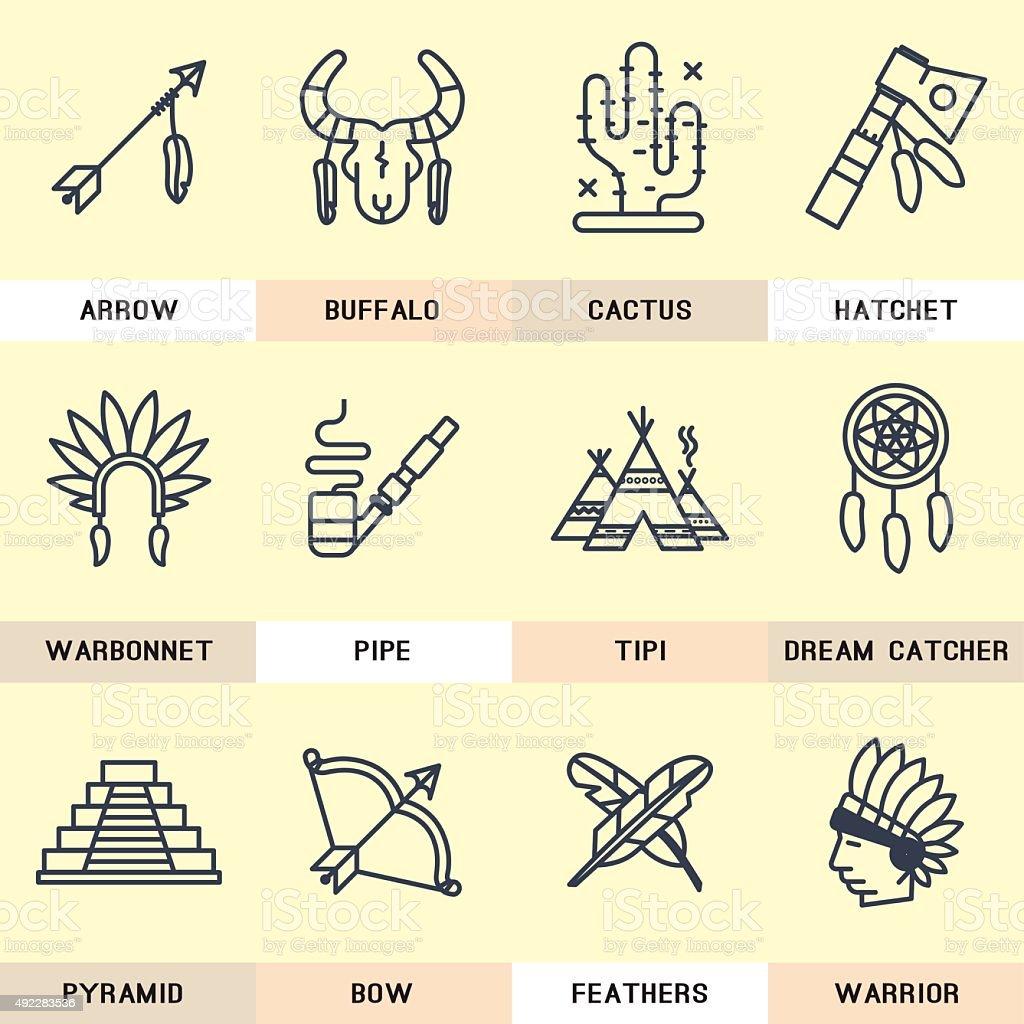 native icon. vector art illustration