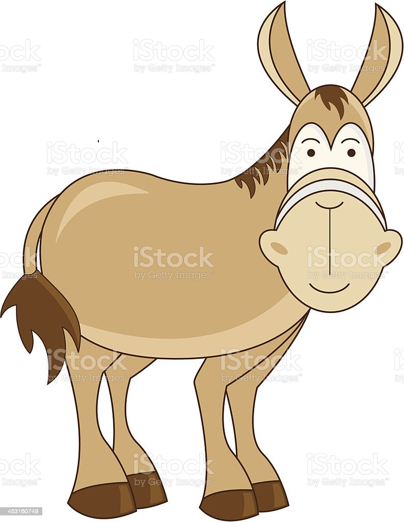 Nativity Donkey Illustration royalty-free stock vector art