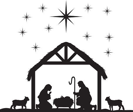 Massif image for nativity clipart free printable
