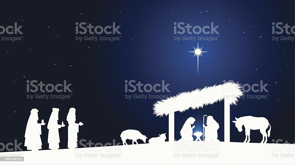 Nativity Scene royalty-free stock vector art