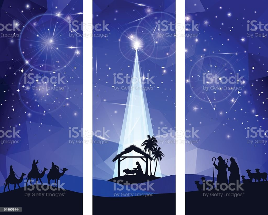 Nativity Scene vector art illustration
