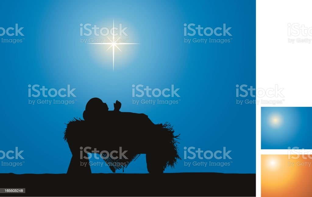 Nativity (Vector Silhouette) royalty-free stock vector art