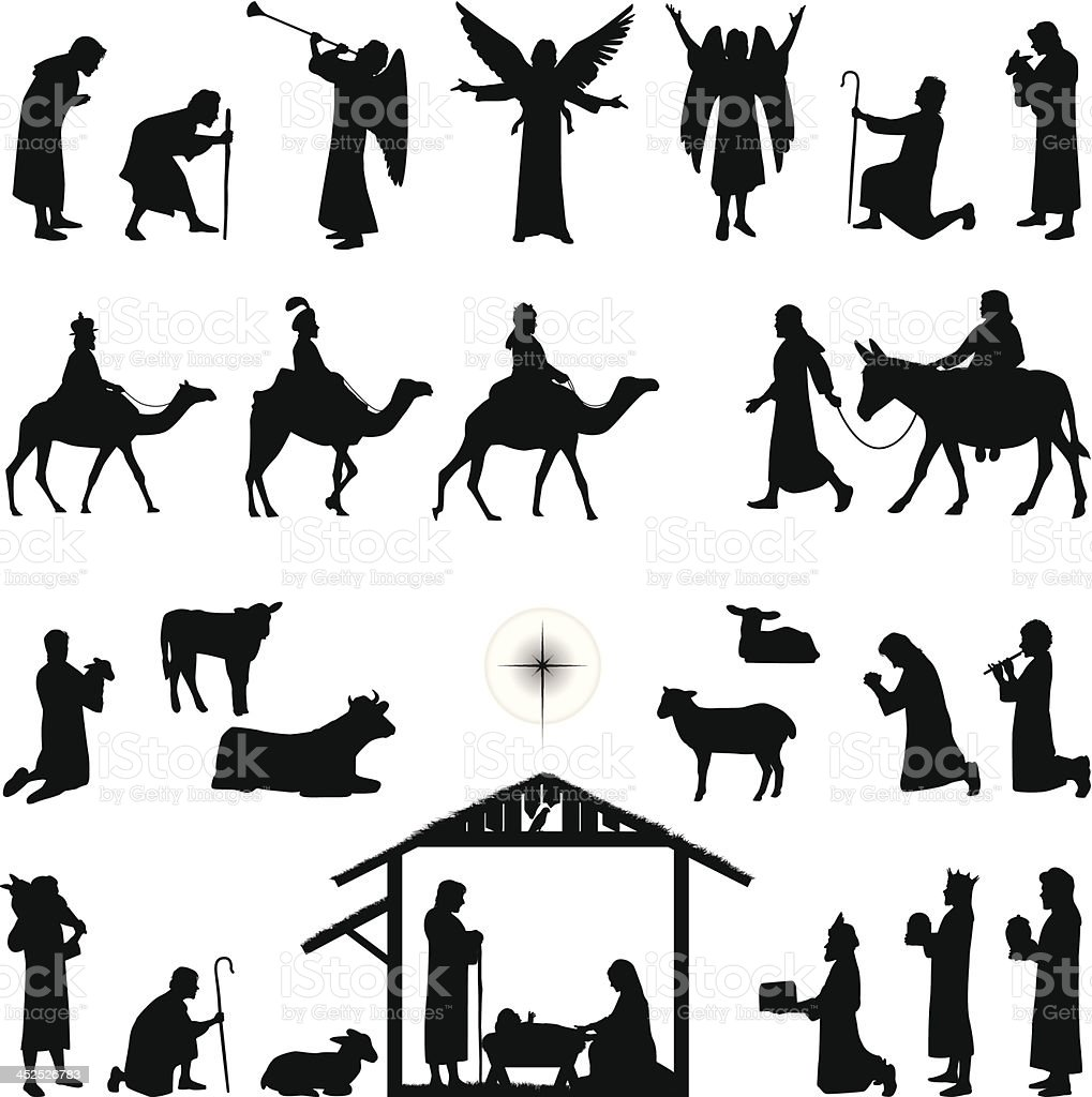 Of A Angel Silhouette Clip Art, Vector Images & Illustrations ...