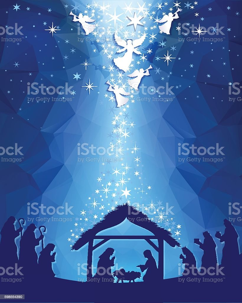Nativity vector art illustration