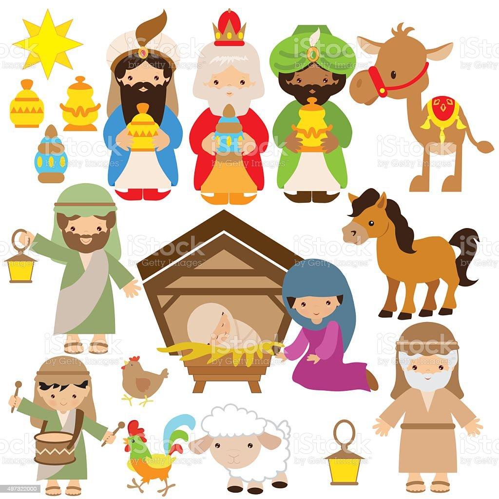 Nativity vector illustration vector art illustration