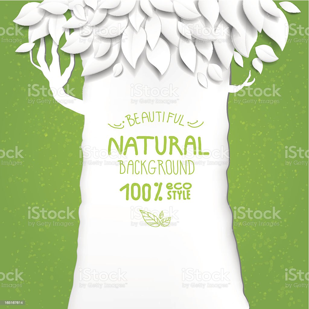 Natural background with tree royalty-free stock vector art