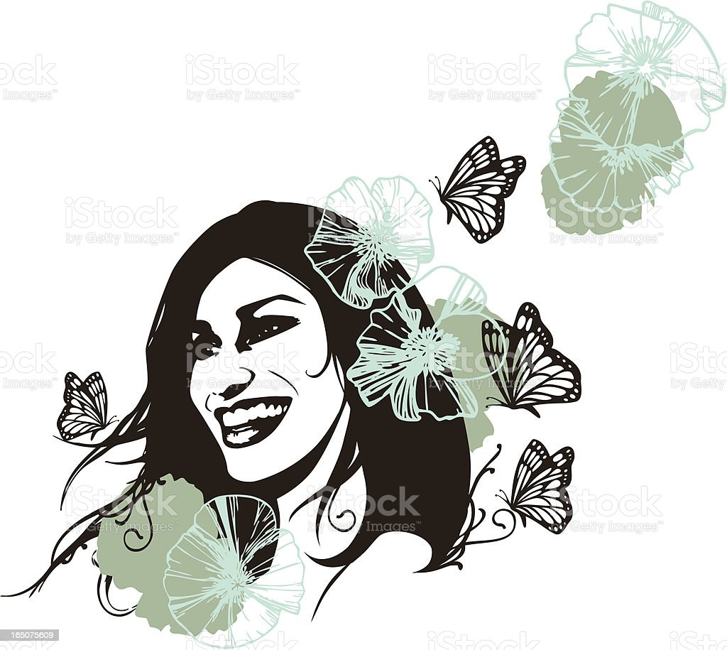 Natural Beauty royalty-free stock vector art