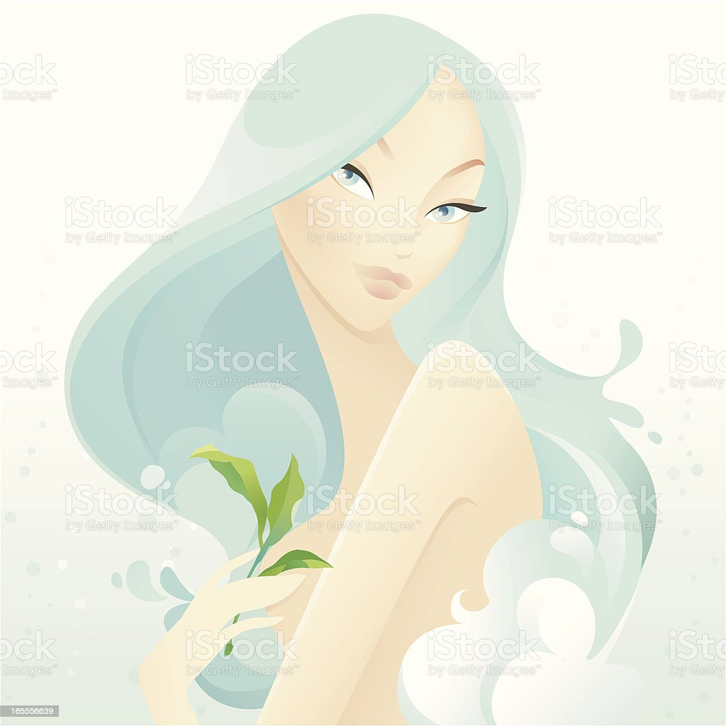 Natural Beauty (Pure Moisture) royalty-free stock vector art
