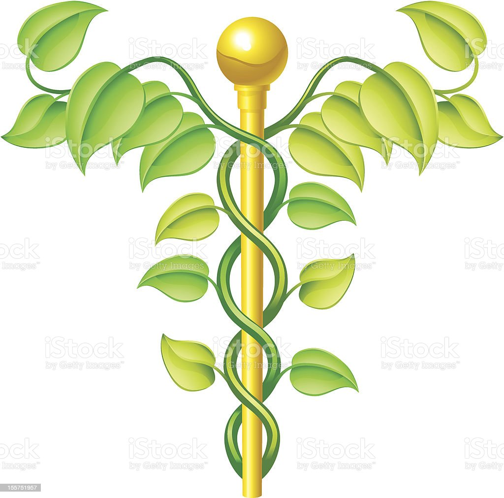 Natural caduceus concept royalty-free stock vector art
