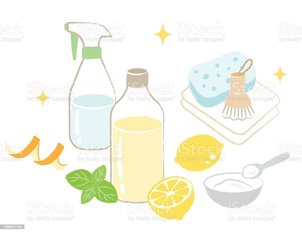 natural cleaning vector art illustration