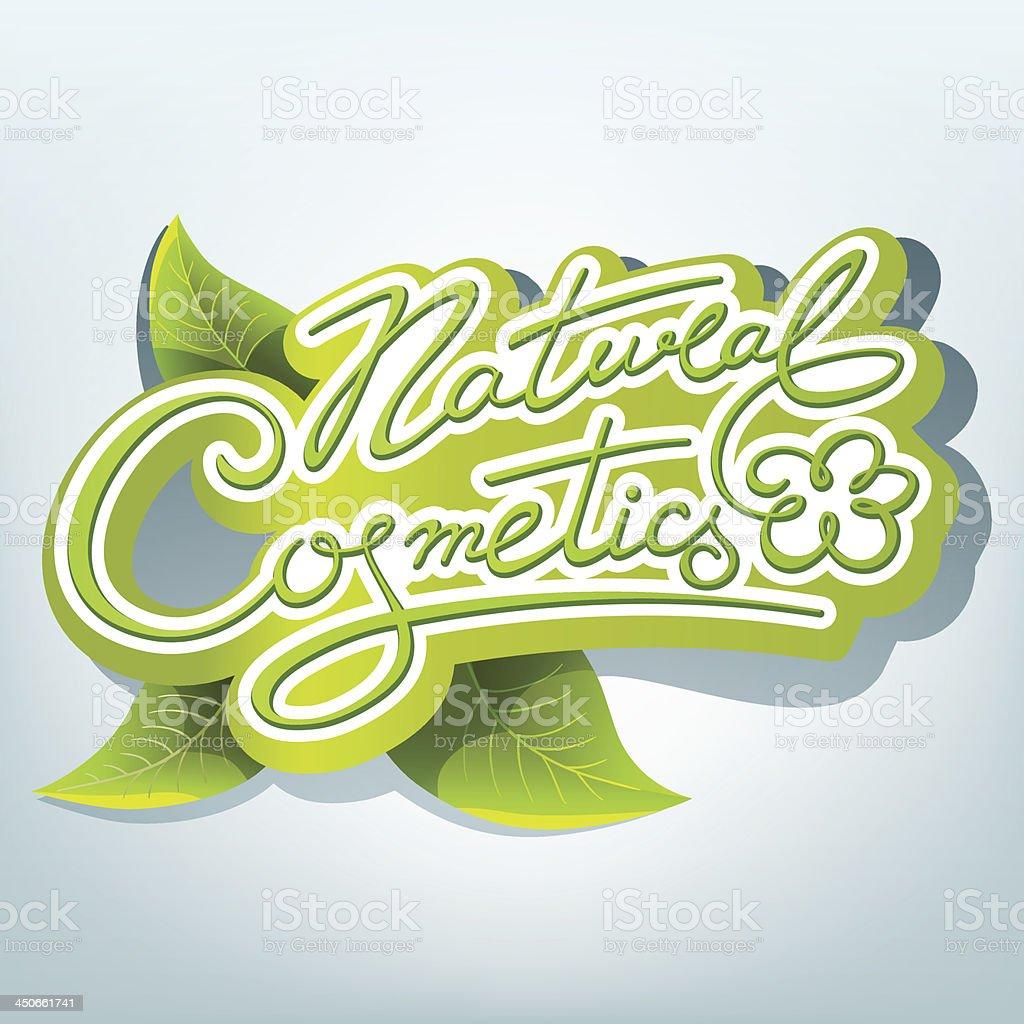 Natural cosmetics label royalty-free stock vector art