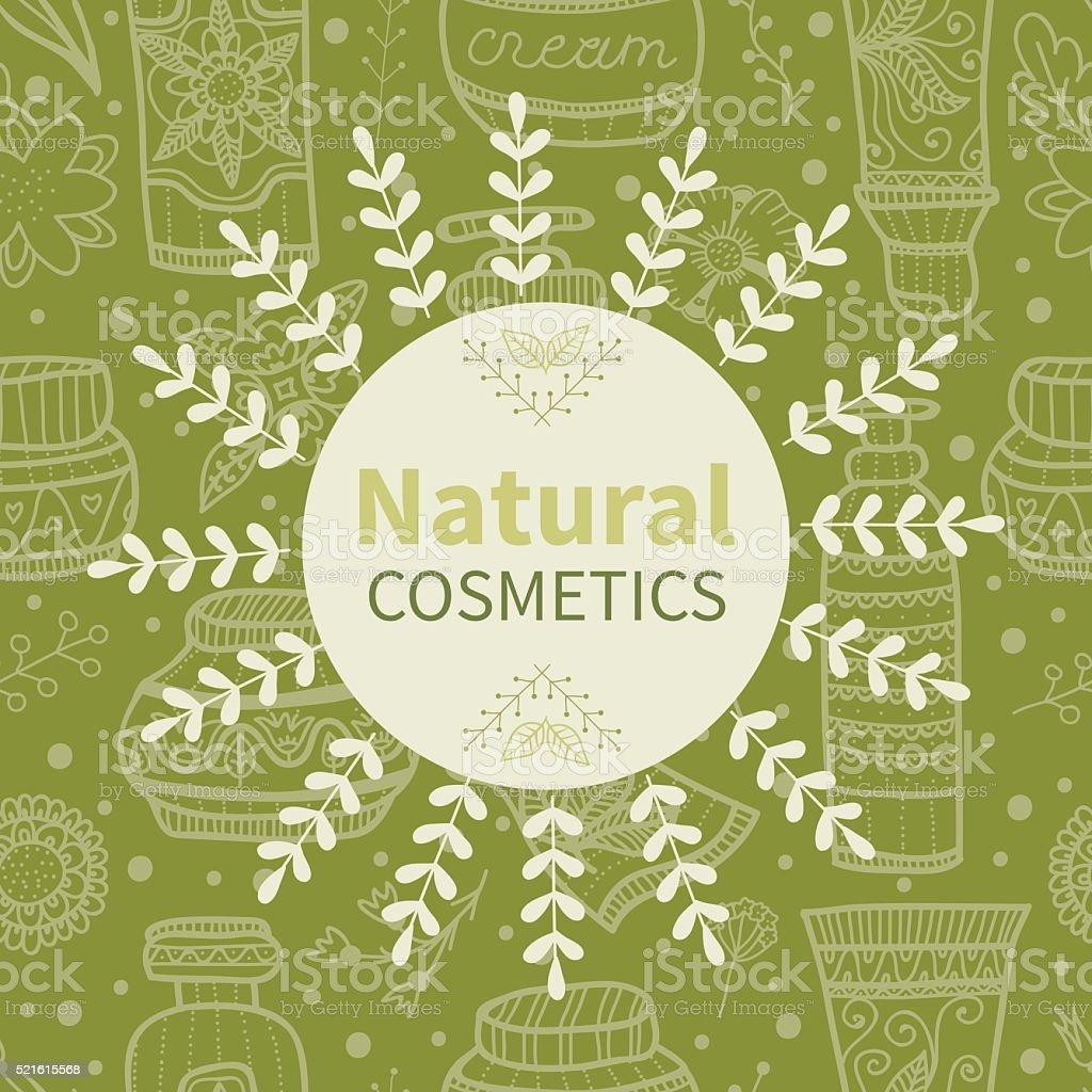 Natural cosmetics vector art illustration