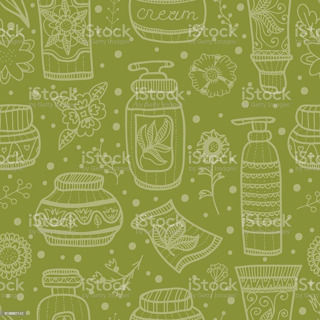 Natural cosmetics. vector art illustration