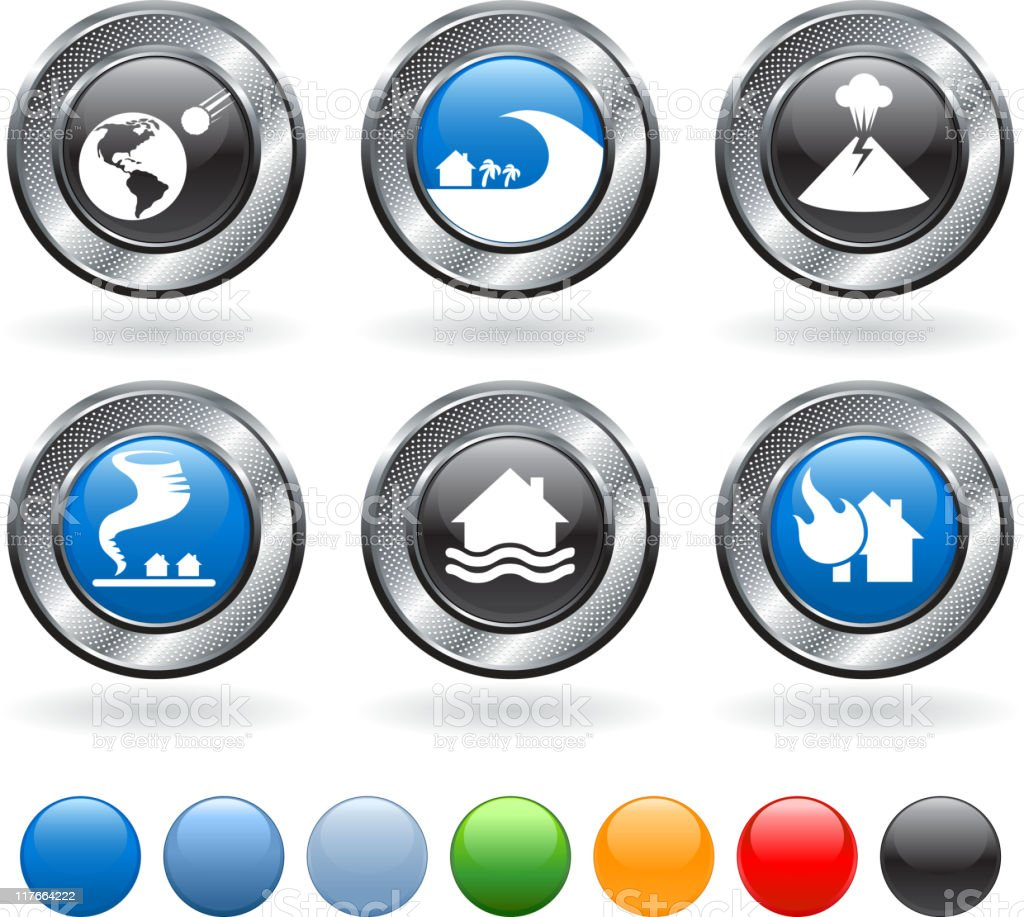 natural disaster royalty free vector icon set royalty-free stock vector art