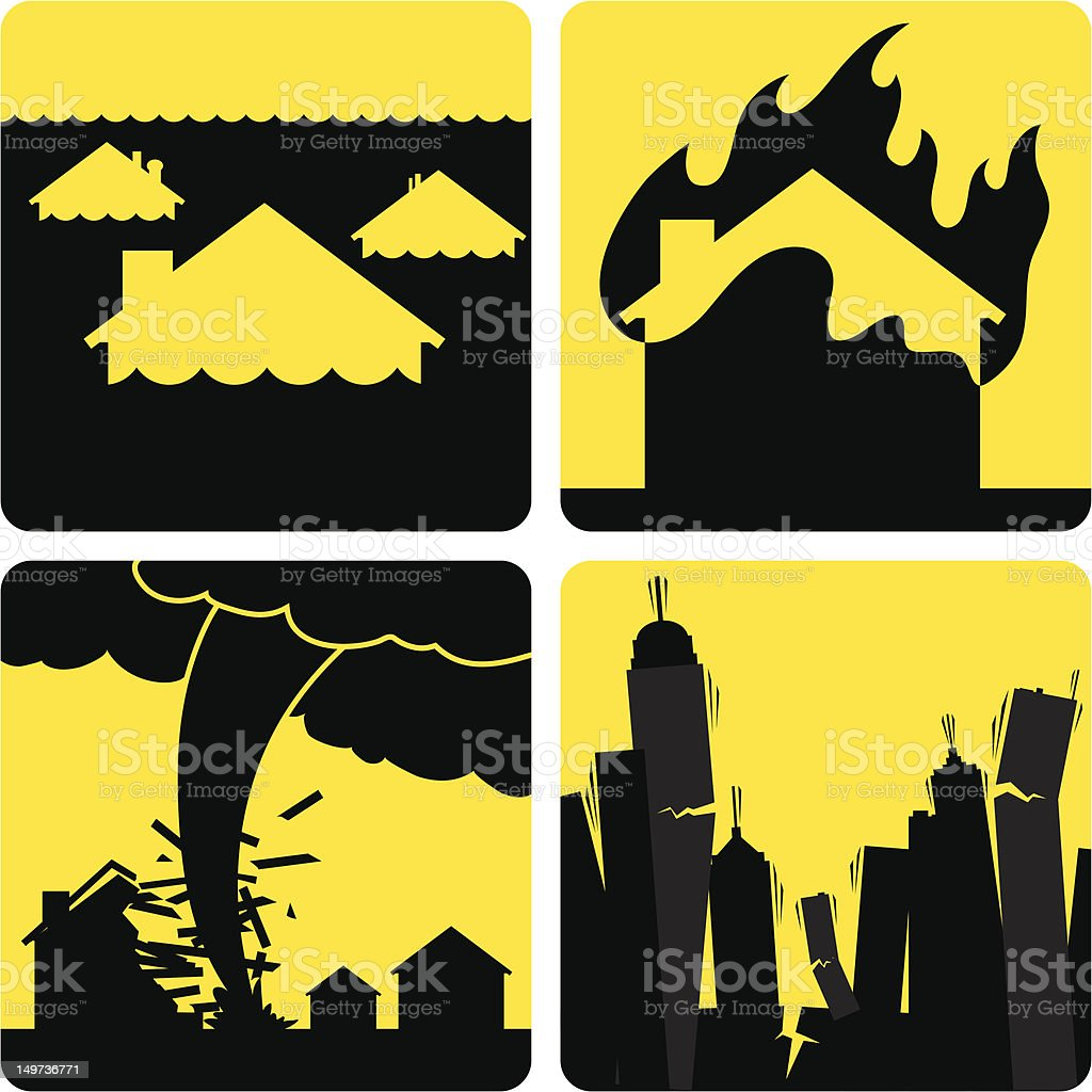 Natural Disasters vector art illustration