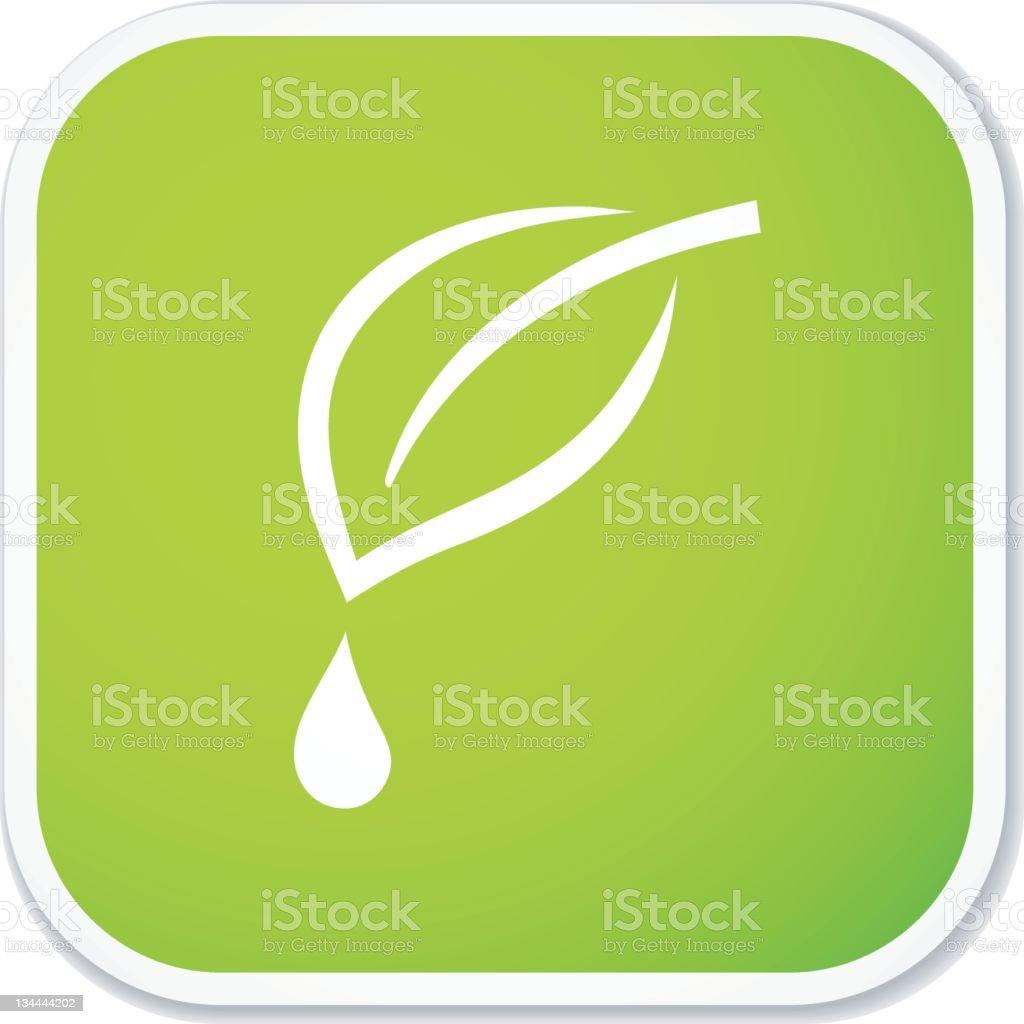 natural drop sq sticker royalty-free stock photo