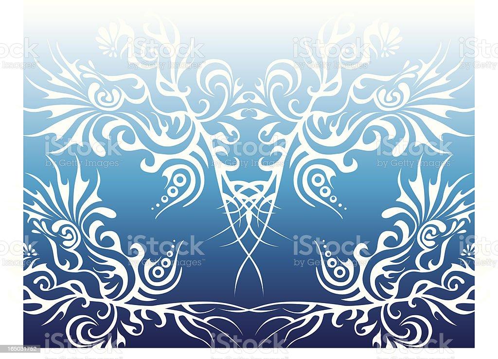 Natürliche Elemente – Luft Lizenzfreies vektor illustration
