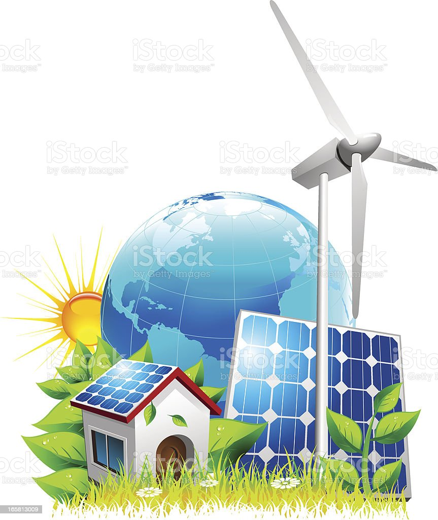 Natural energy royalty-free stock vector art