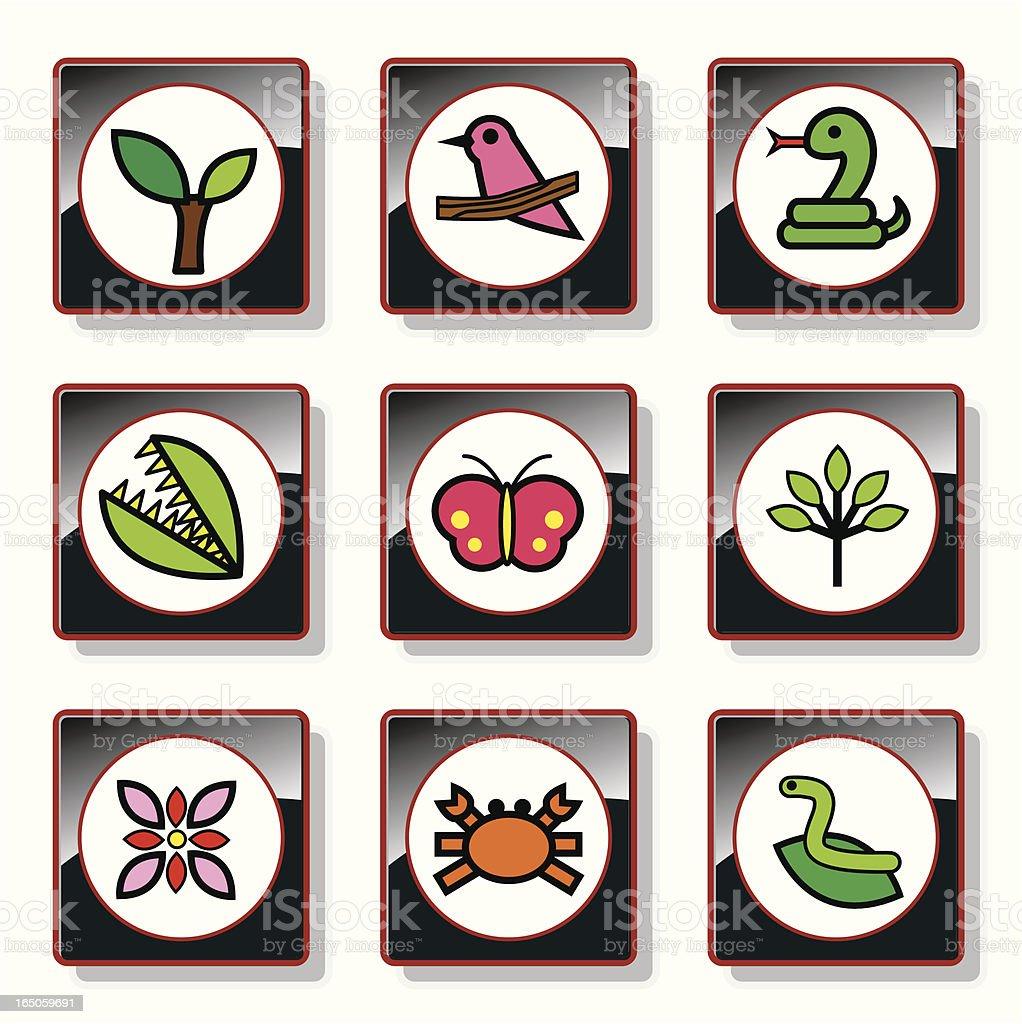 natural environment icon set royalty-free stock vector art