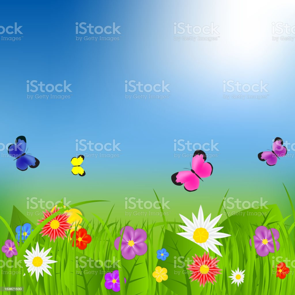 Natural floral background vector illustration royalty-free stock vector art