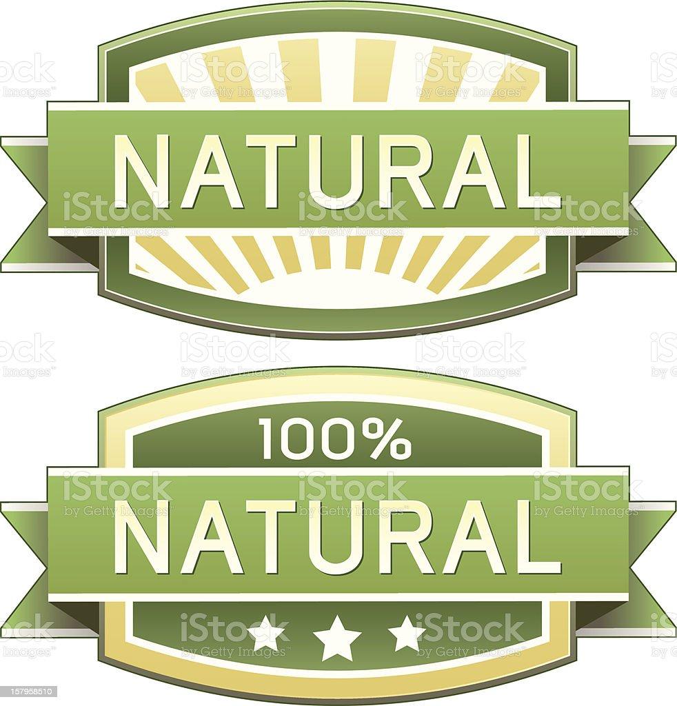 Natural food or product label vector art illustration