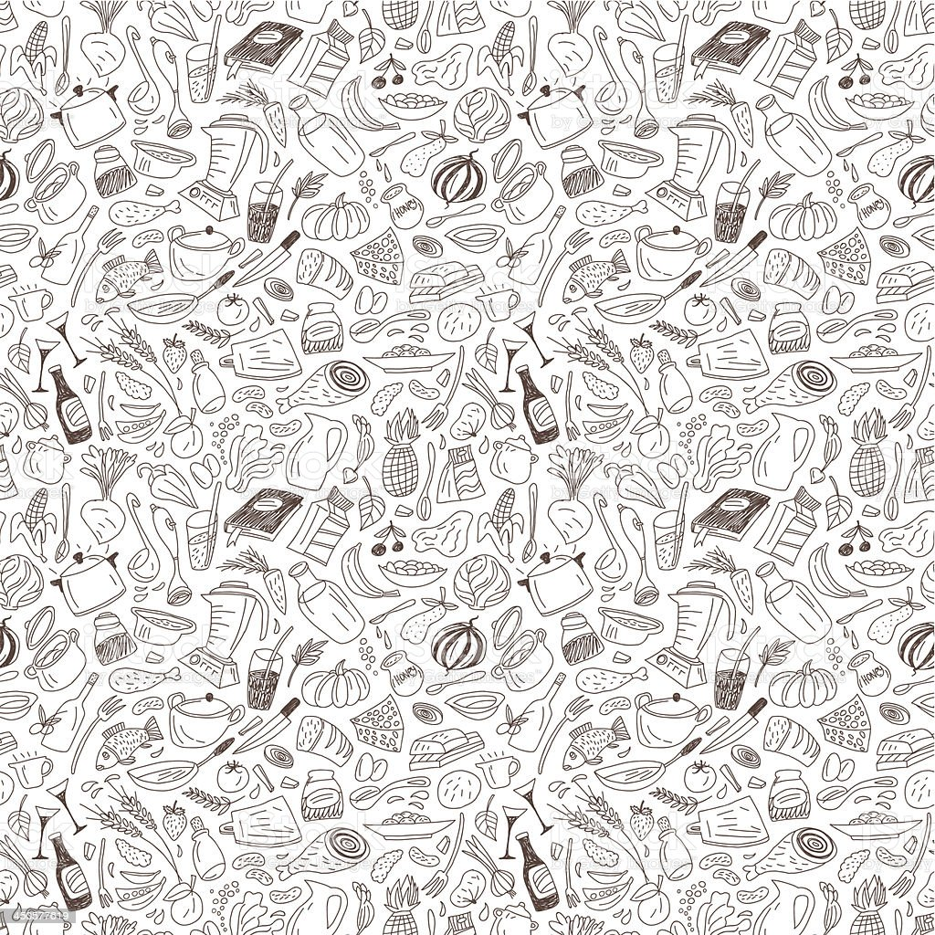 natural food - seamless pattern royalty-free stock vector art