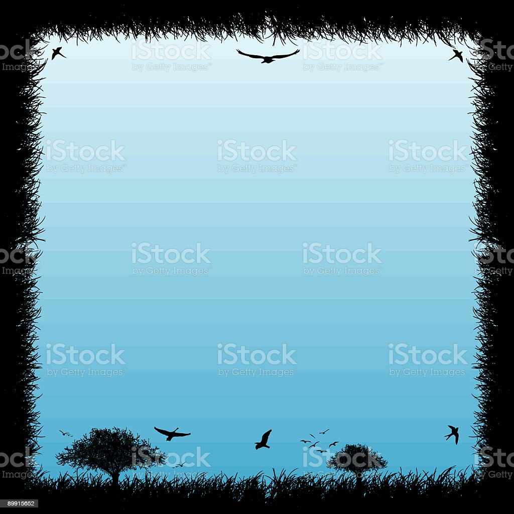 natural frame royalty-free stock vector art