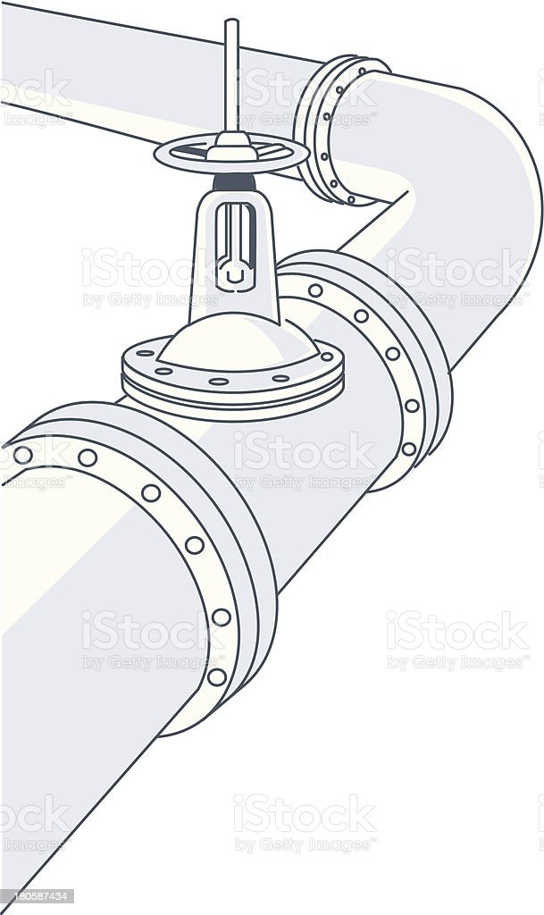 natural gas pipe royalty-free stock vector art