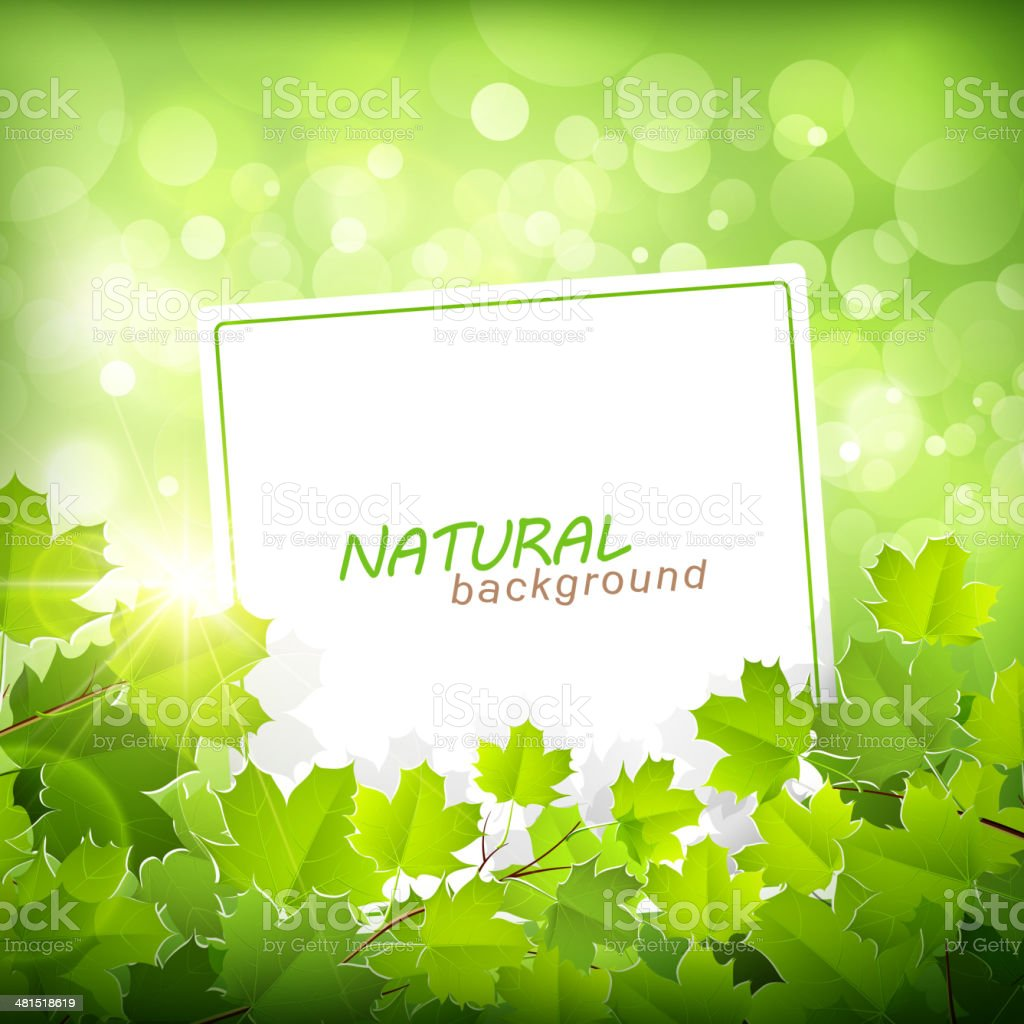 Natural green background royalty-free stock vector art