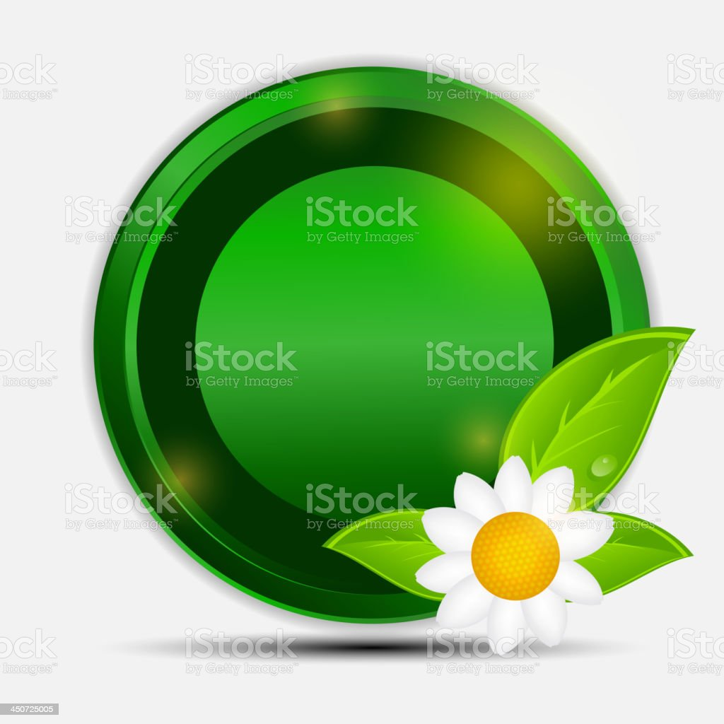 100% natural green label isolated on gray.vector illustration. royalty-free stock vector art