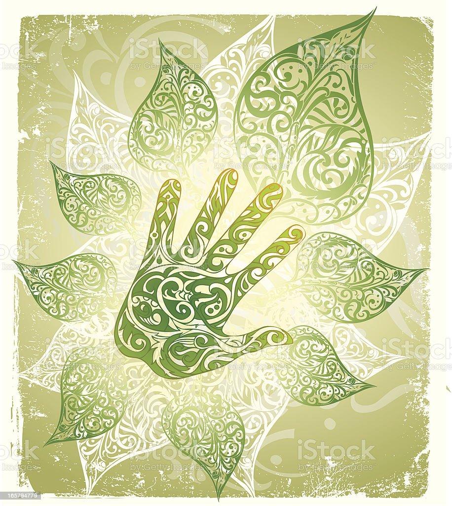 natural healing vector art illustration
