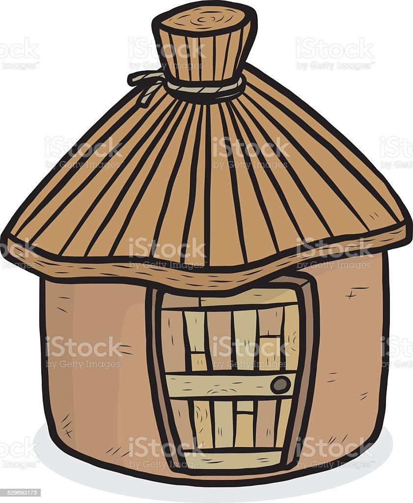 natural hut vector art illustration