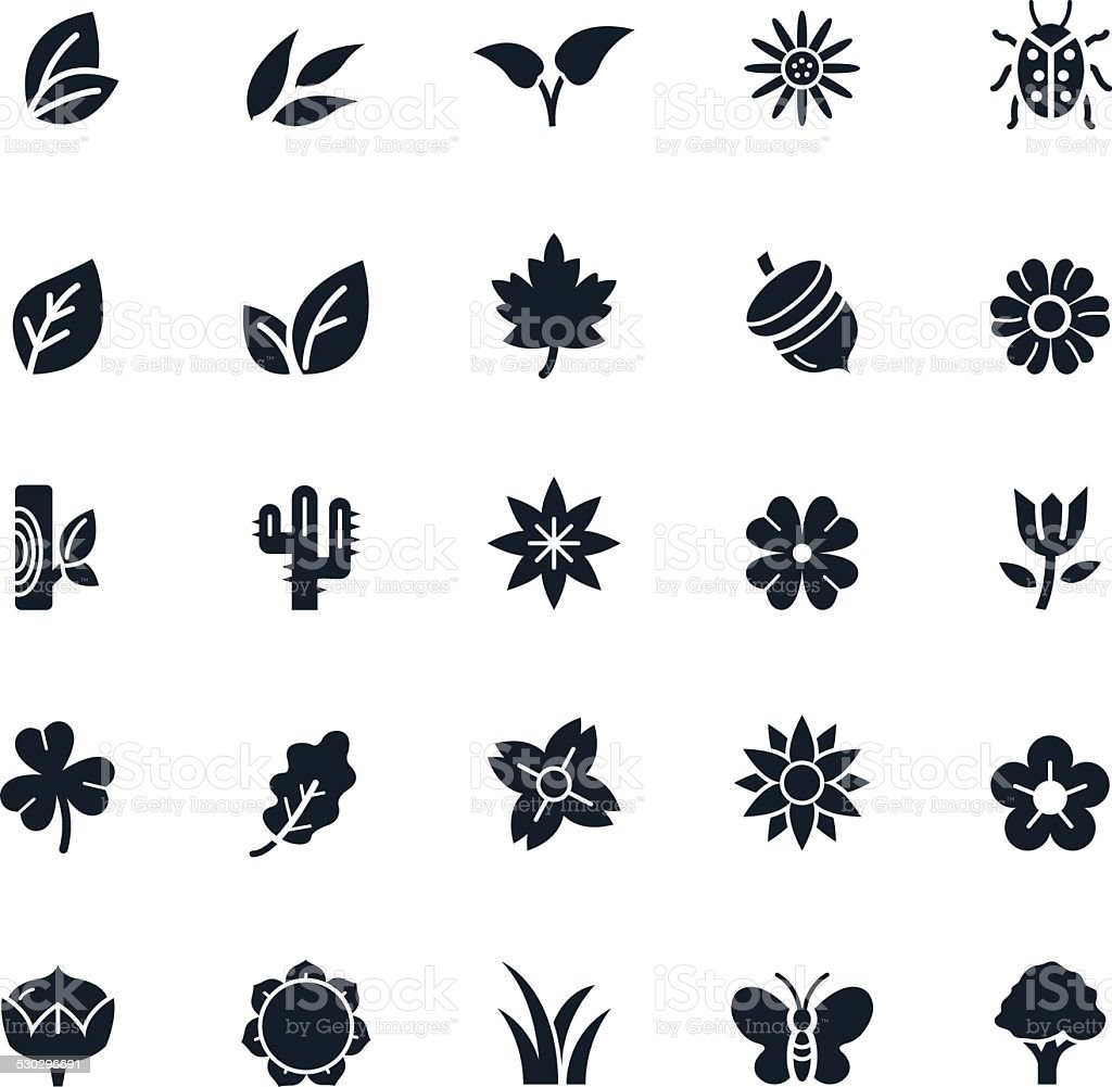 Natural Icons Vector Illustration vector art illustration