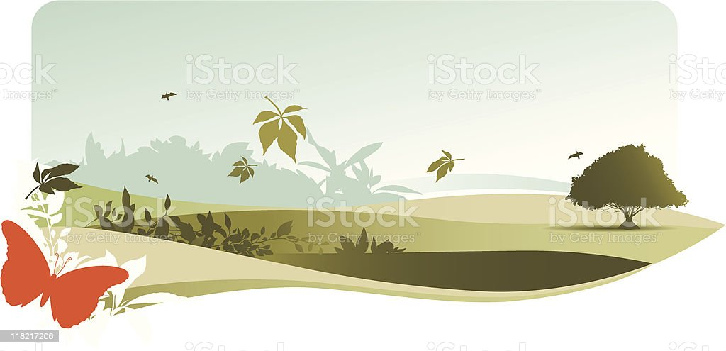 natural landscape royalty-free stock vector art