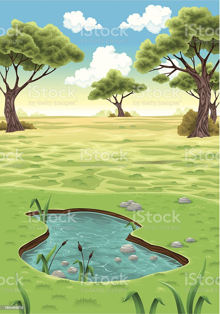 Natural landscape. royalty-free stock vector art