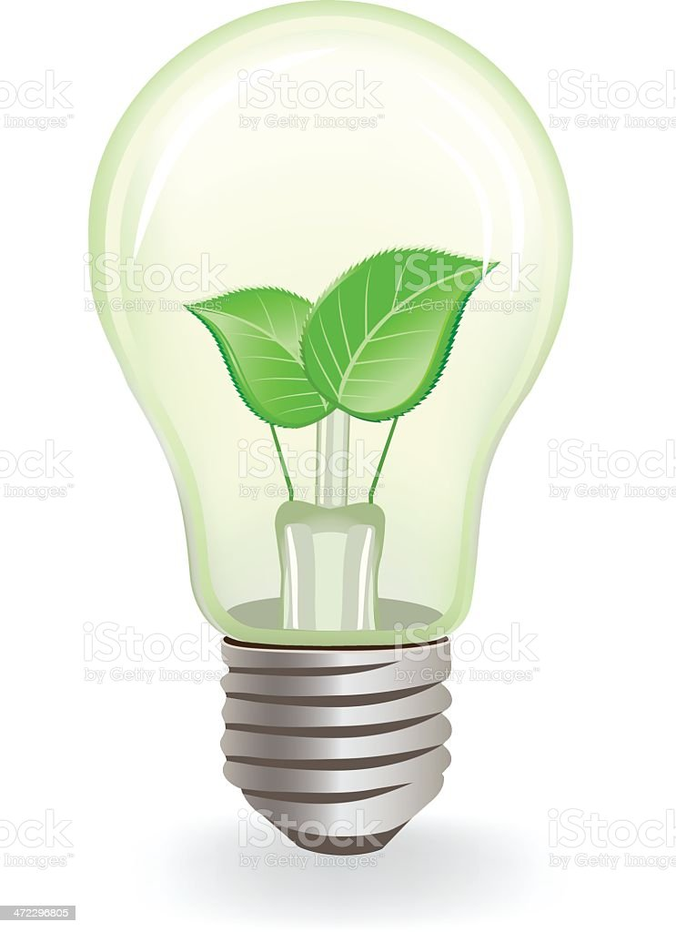 Natural Light Bulb royalty-free stock vector art