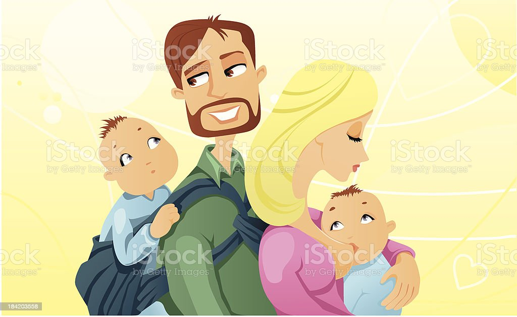 Natural Parenting royalty-free stock vector art