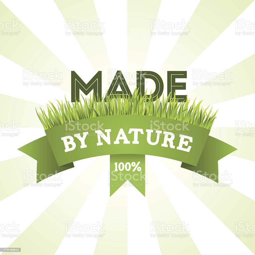 Natural product label royalty-free stock vector art
