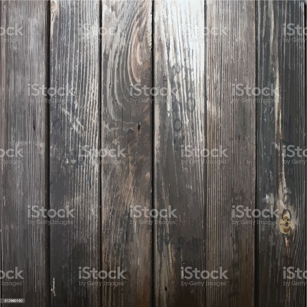 Natural realistic wood background vector art illustration