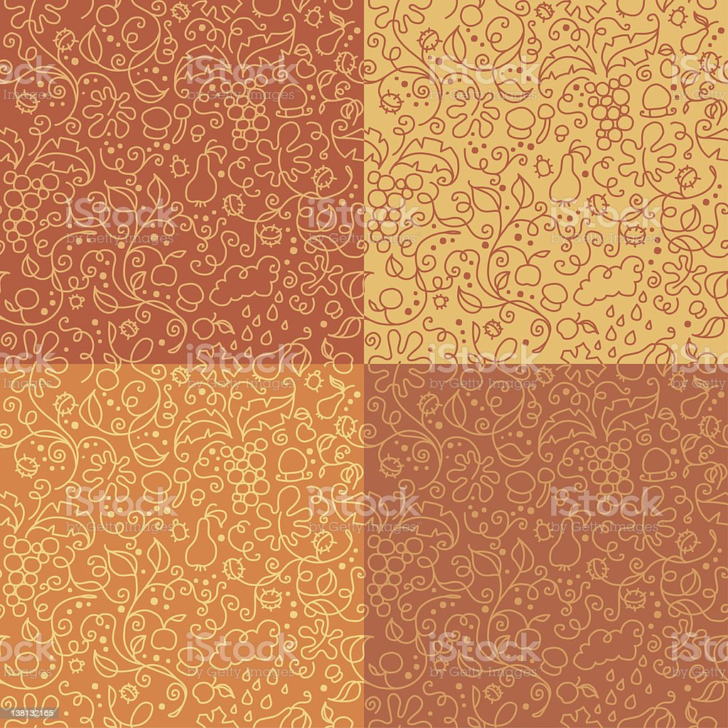 Natural seamless pattern royalty-free stock vector art