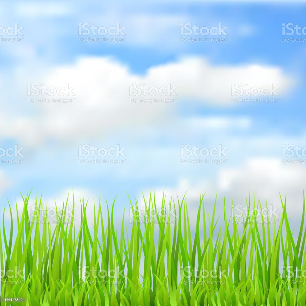 Natural spring background royalty-free stock vector art