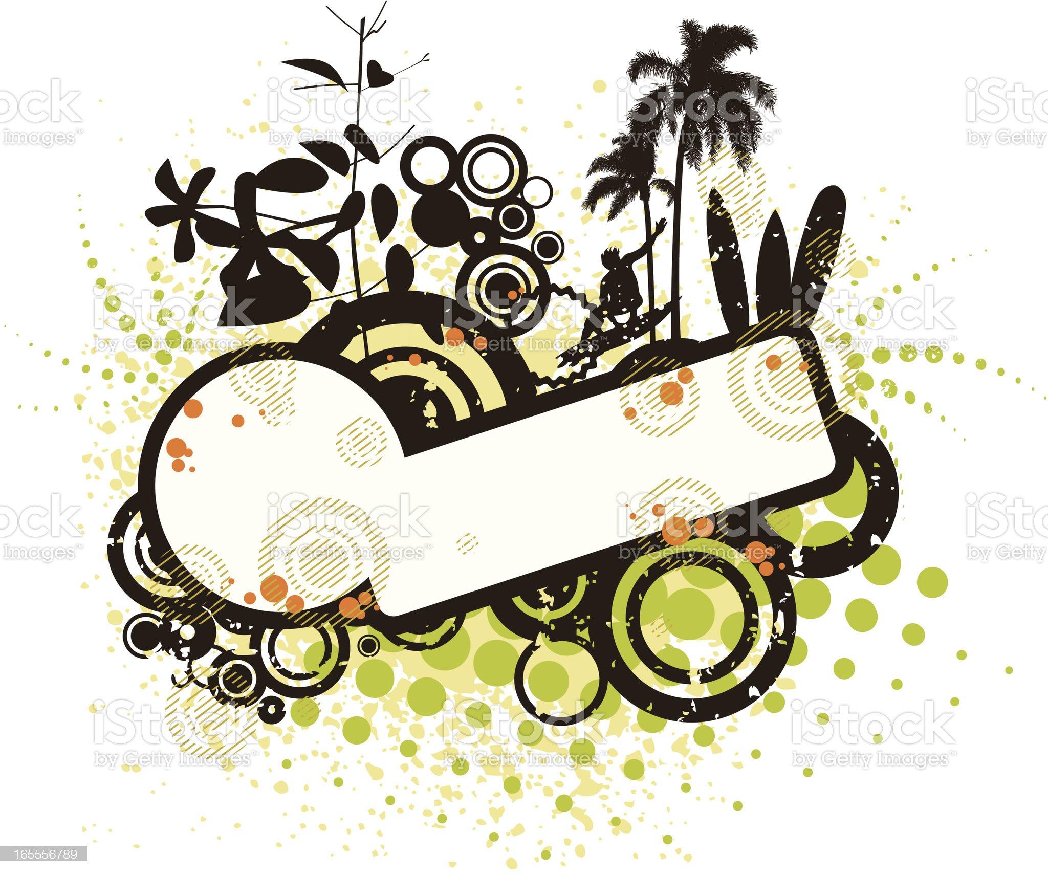 natural surf banner royalty-free stock vector art