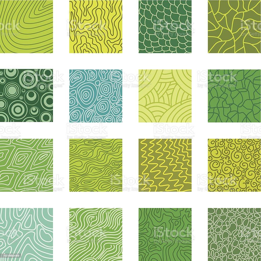 Natural textures vector art illustration