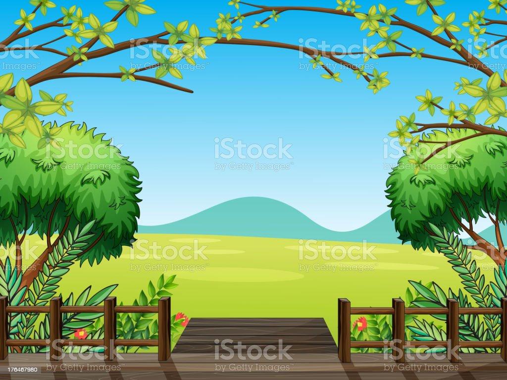 Natural view of nature royalty-free stock vector art