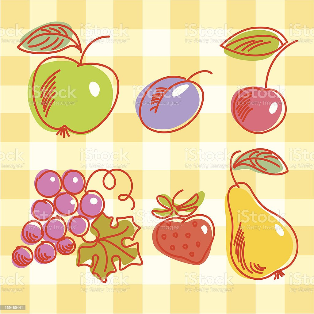 Natural vitamins vector art illustration