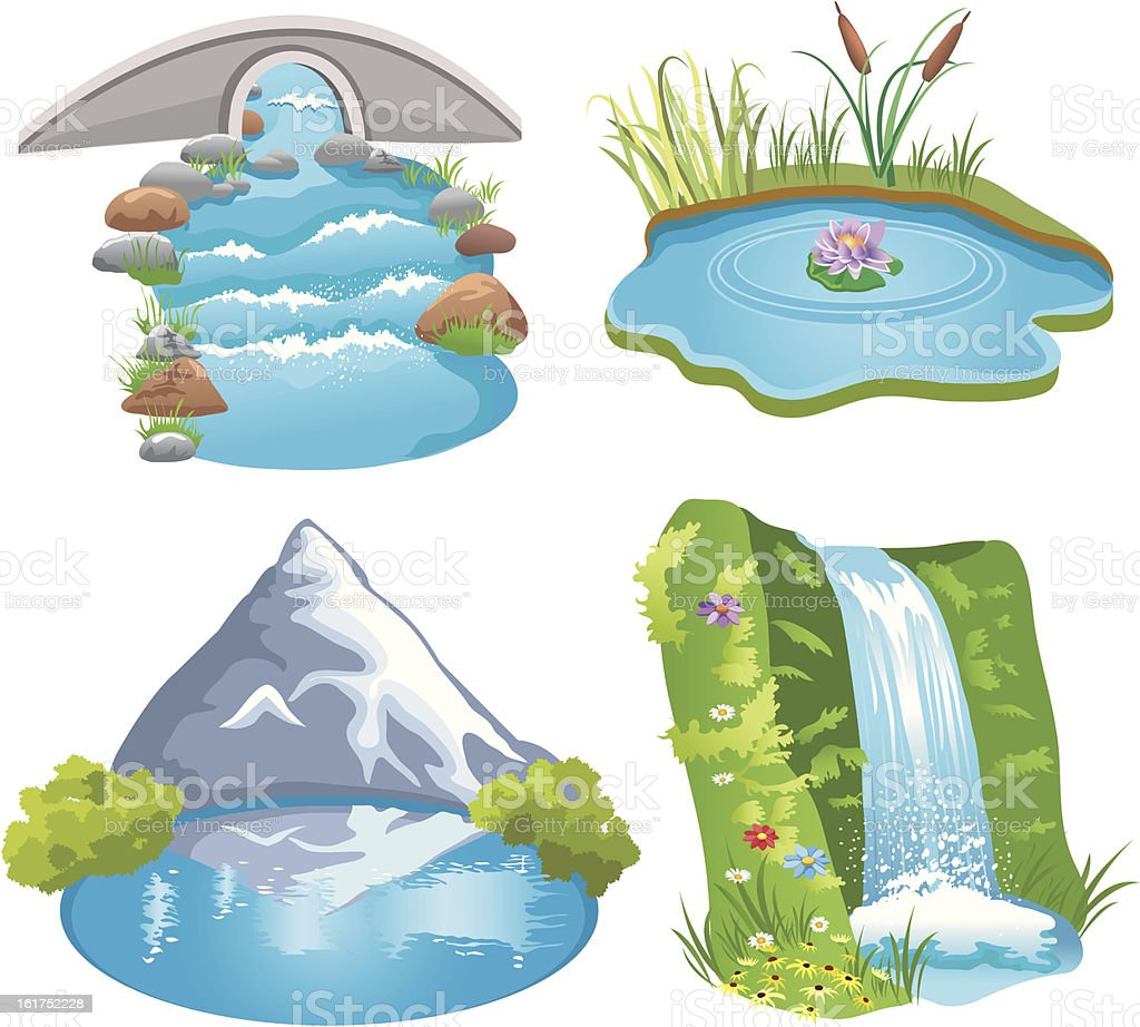 natural water vector art illustration