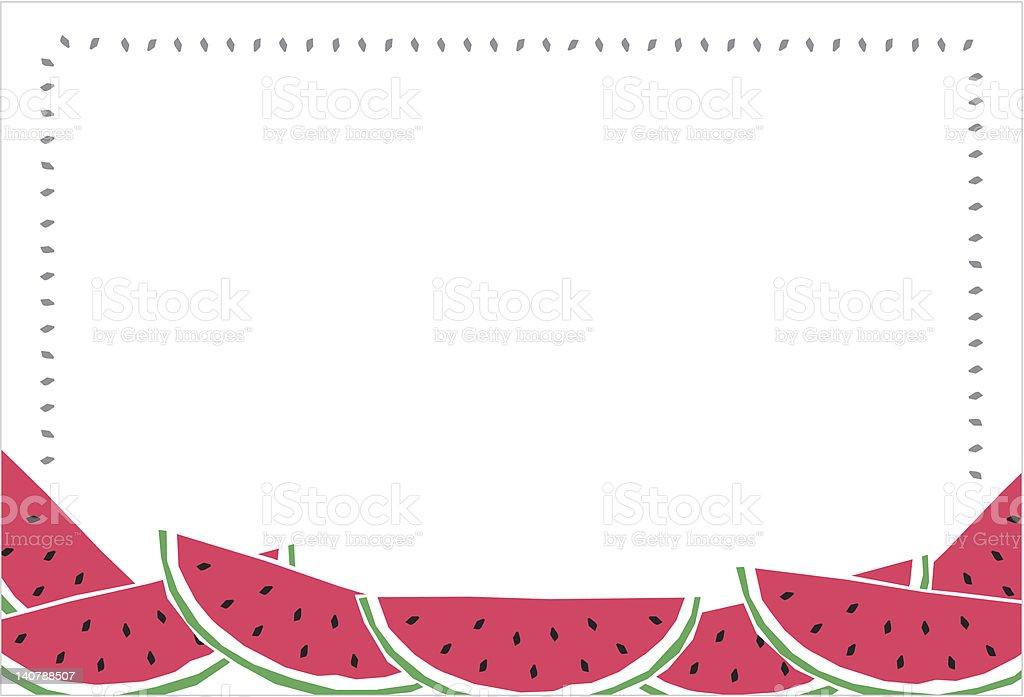 natural watermelon border vector art illustration