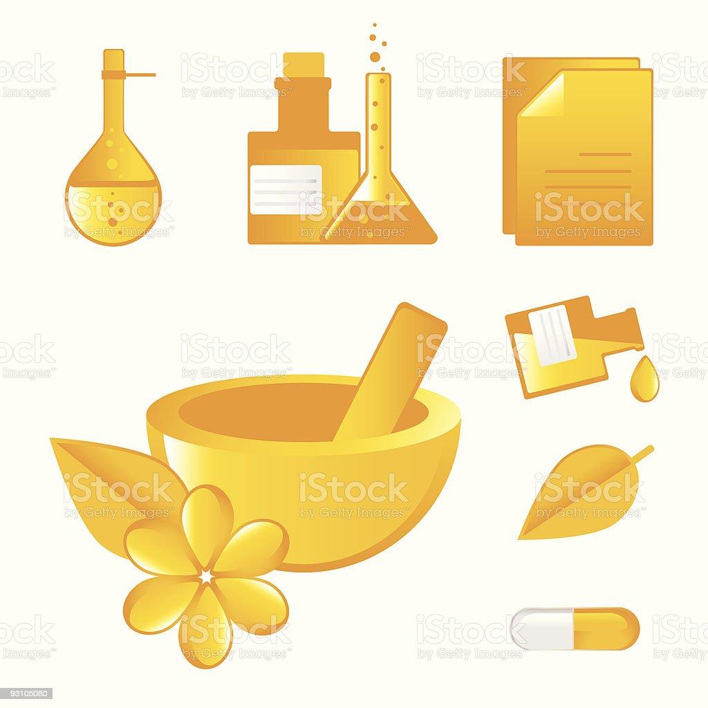 natural way- alternative medicines royalty-free stock vector art