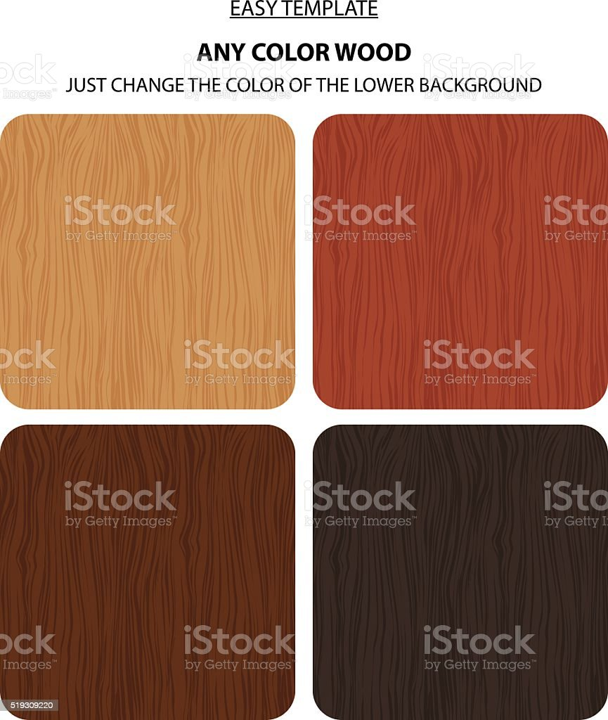 Natural wooden background vector art illustration